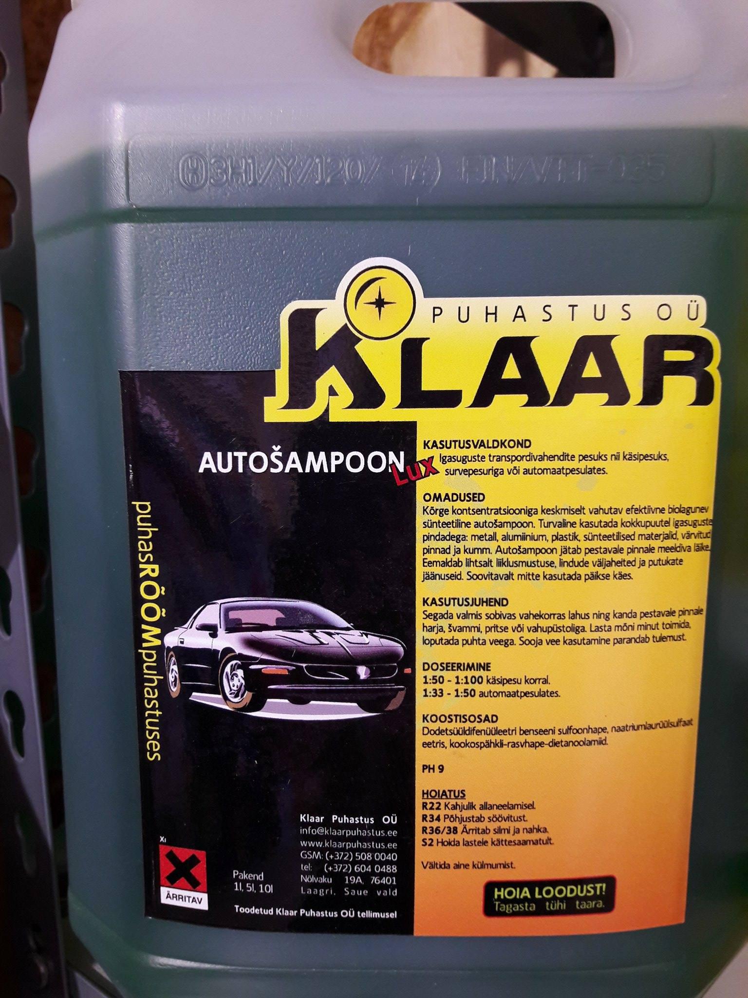 b14047d9bca AUTOŠAMPOON LUX 5L - Auto- ja motokaubad, Puhastusvahendid ...